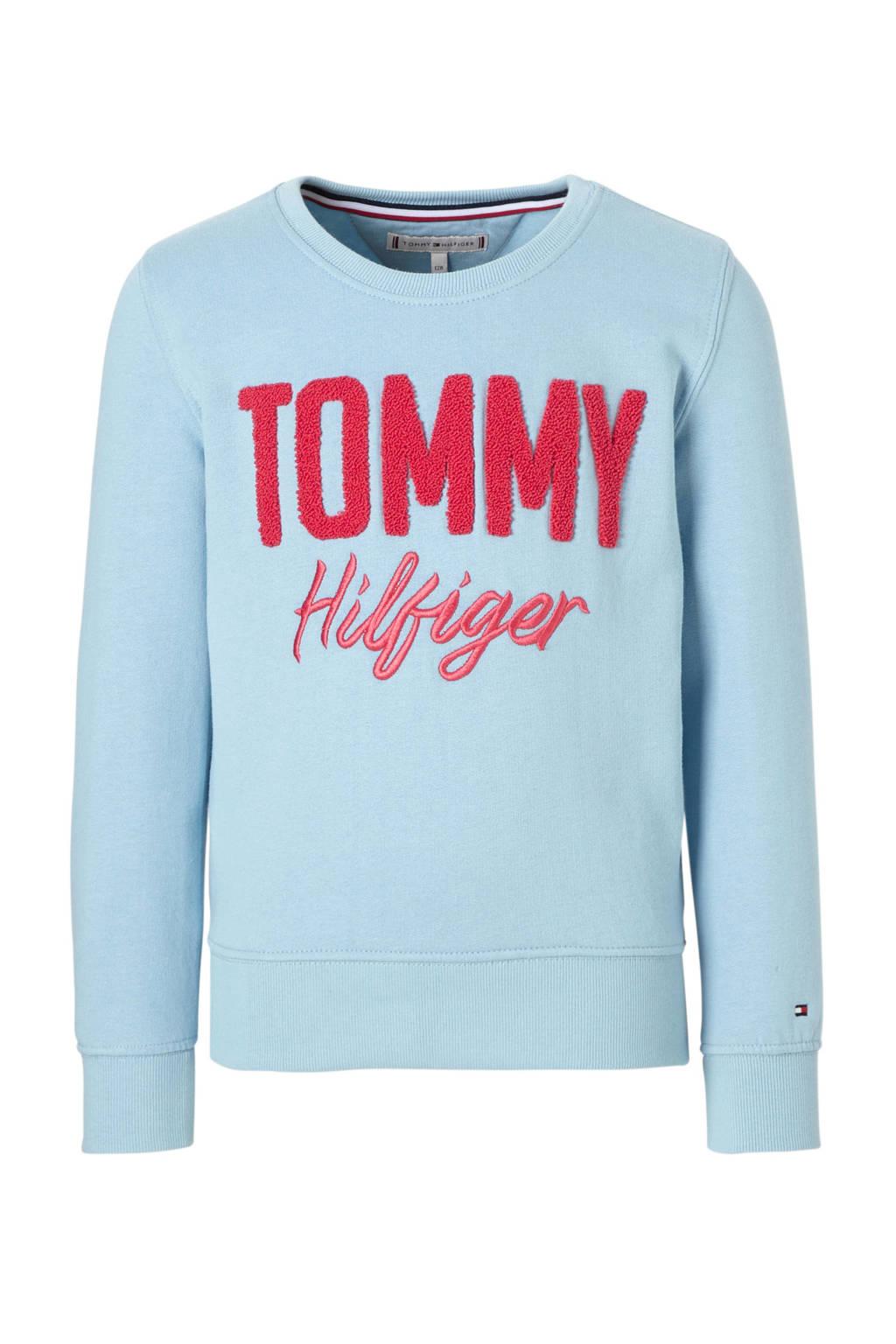 Tommy Hilfiger sweater lichtblauw, Lichtblauw/hardroze