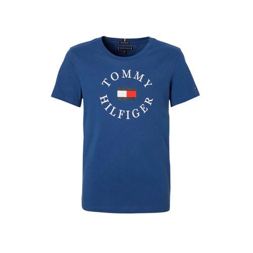 Tommy Hilfiger T-shirt met logo kobaltblauw kopen