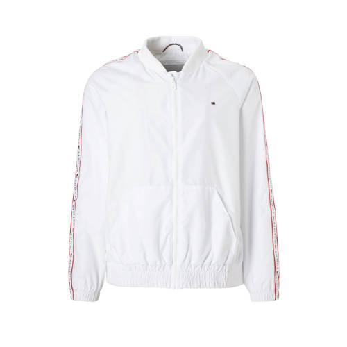 Tommy Hilfiger bomberjack met contrastbies wit kopen