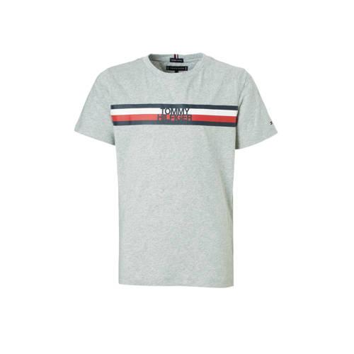 Tommy Hilfiger T-shirt met printopdruk grijs melange kopen