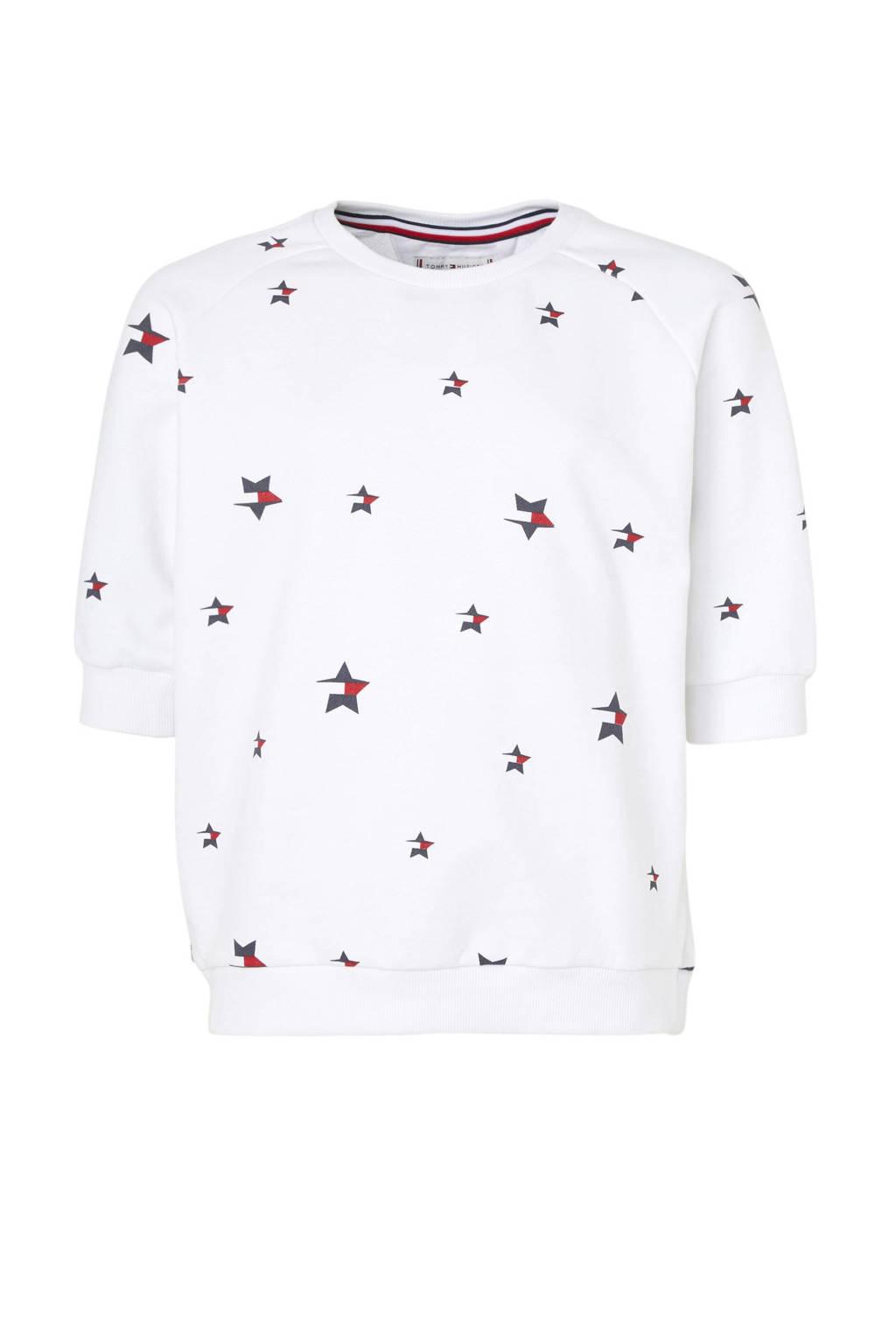 Tommy Hilfiger sweater met sterren wit, Wit