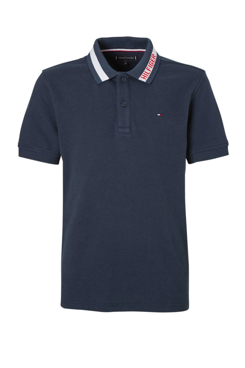Tommy Hilfiger piqué polo donkerblauw, Donkerblauw
