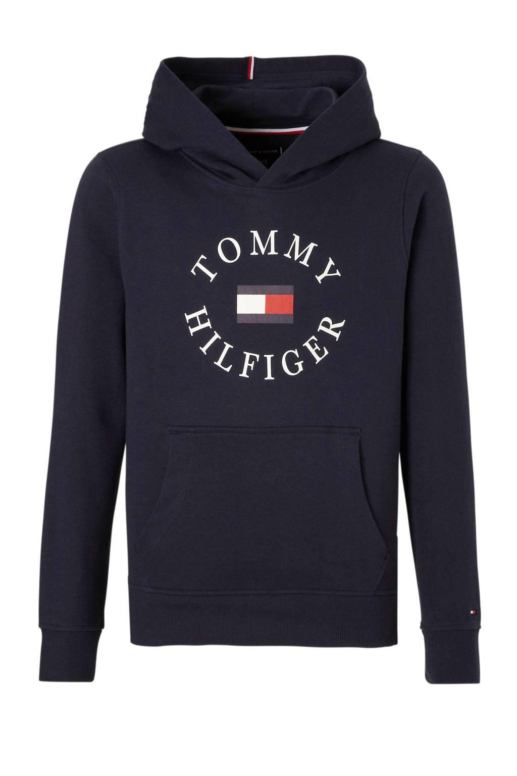 Tommy Hilfiger hoodie met logo donkerblauw, Donkerblauw