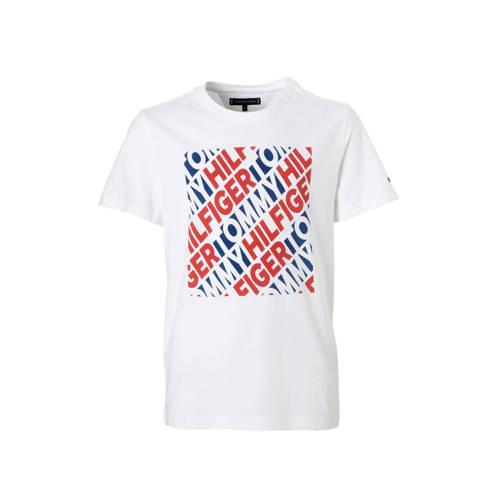 Tommy Hilfiger T-shirt met print wit kopen