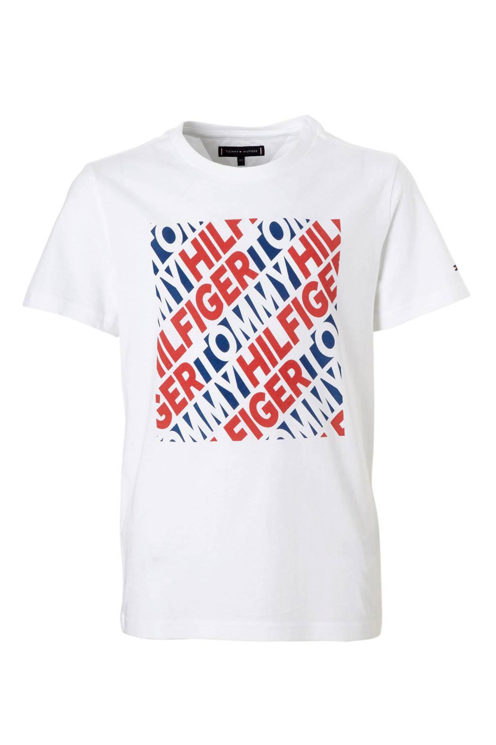 Tommy Hilfiger T-shirt met print wit, Wit