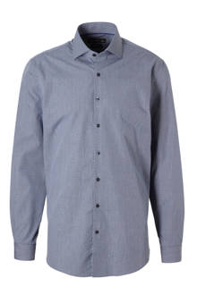 Angelo Litrico slim fit overhemd met print blauw