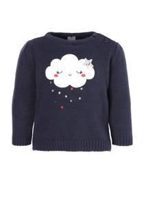 C&A Baby Club trui met wolk blauw (meisjes)