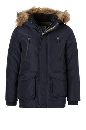 Here & There parka marine
