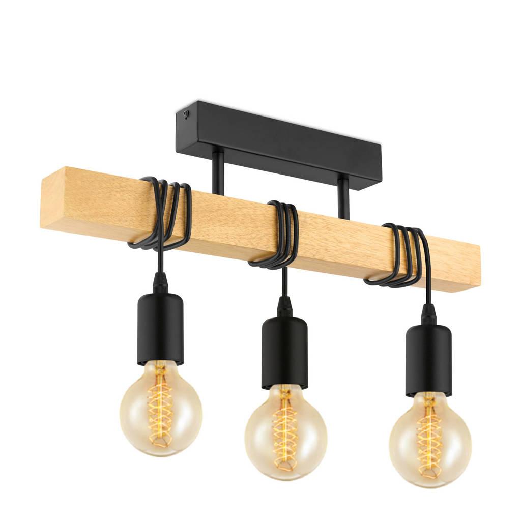 EGLO plafondlamp, Zwart/hout
