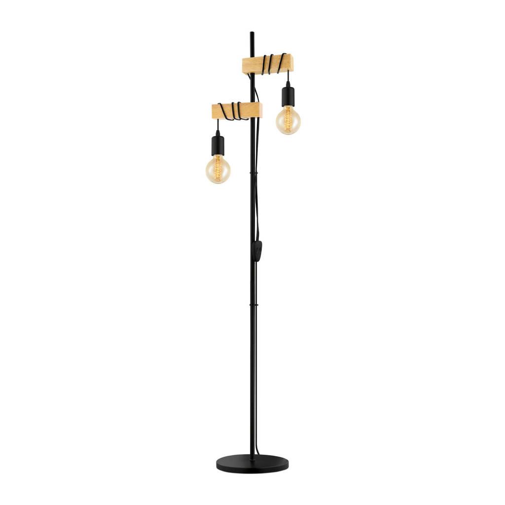 EGLO vloerlamp, Zwart/hout