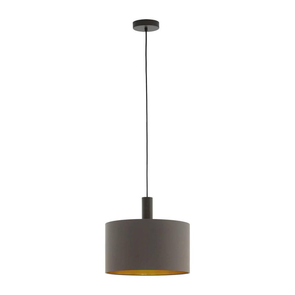 EGLO hanglamp, donkerbruin/goud