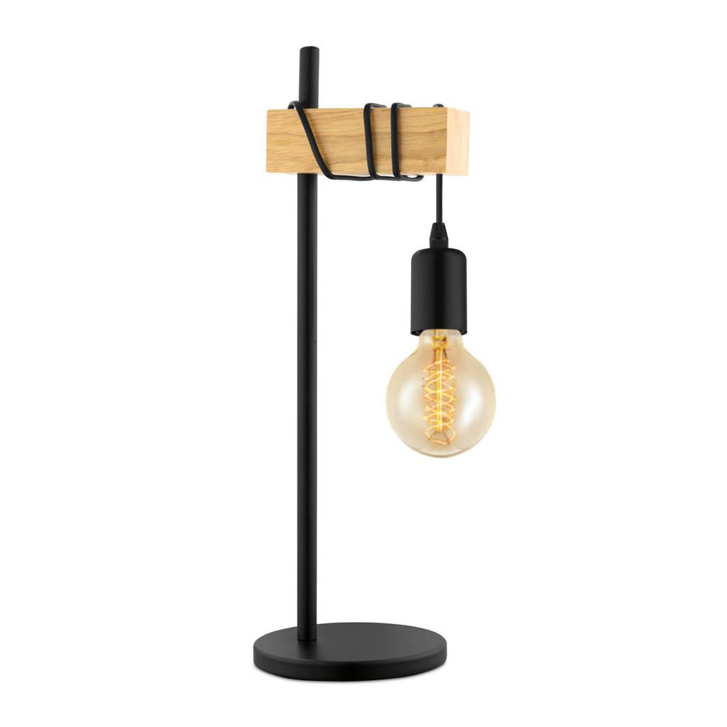 EGLO tafellamp, Zwart/hout