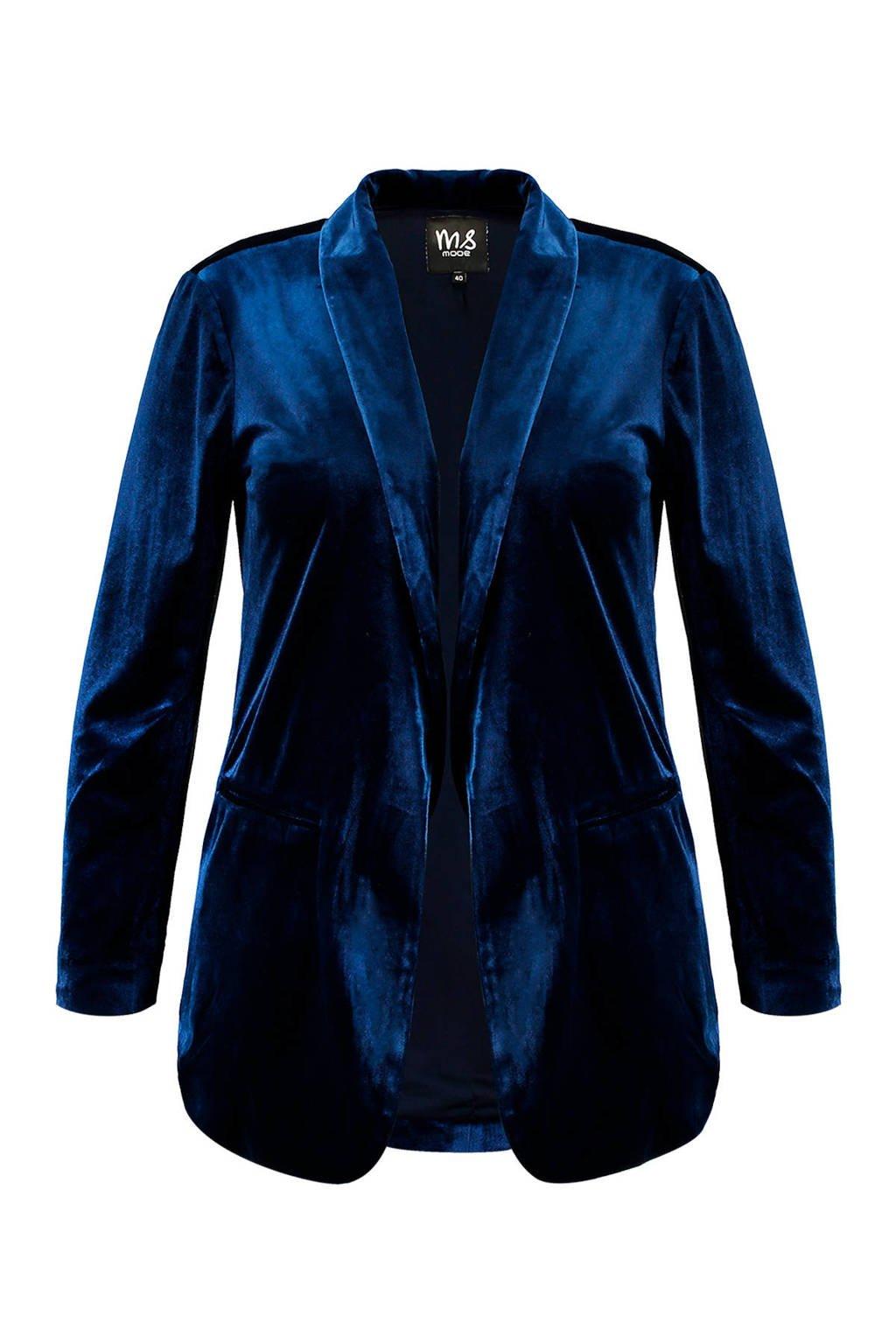 MS Mode fluwelen blazer, Navy blauw
