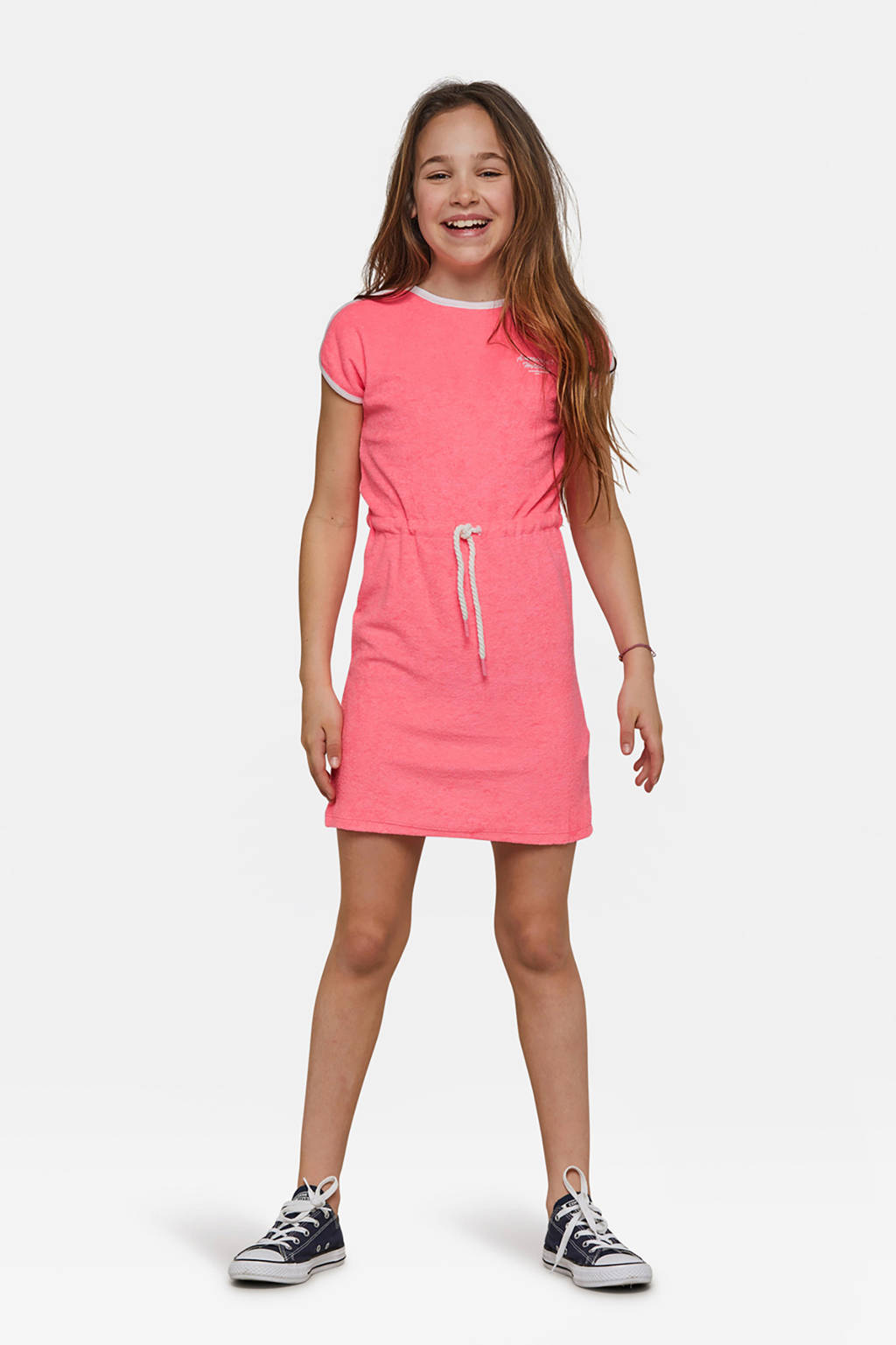 WE Fashion badstof jurk roze, Roze