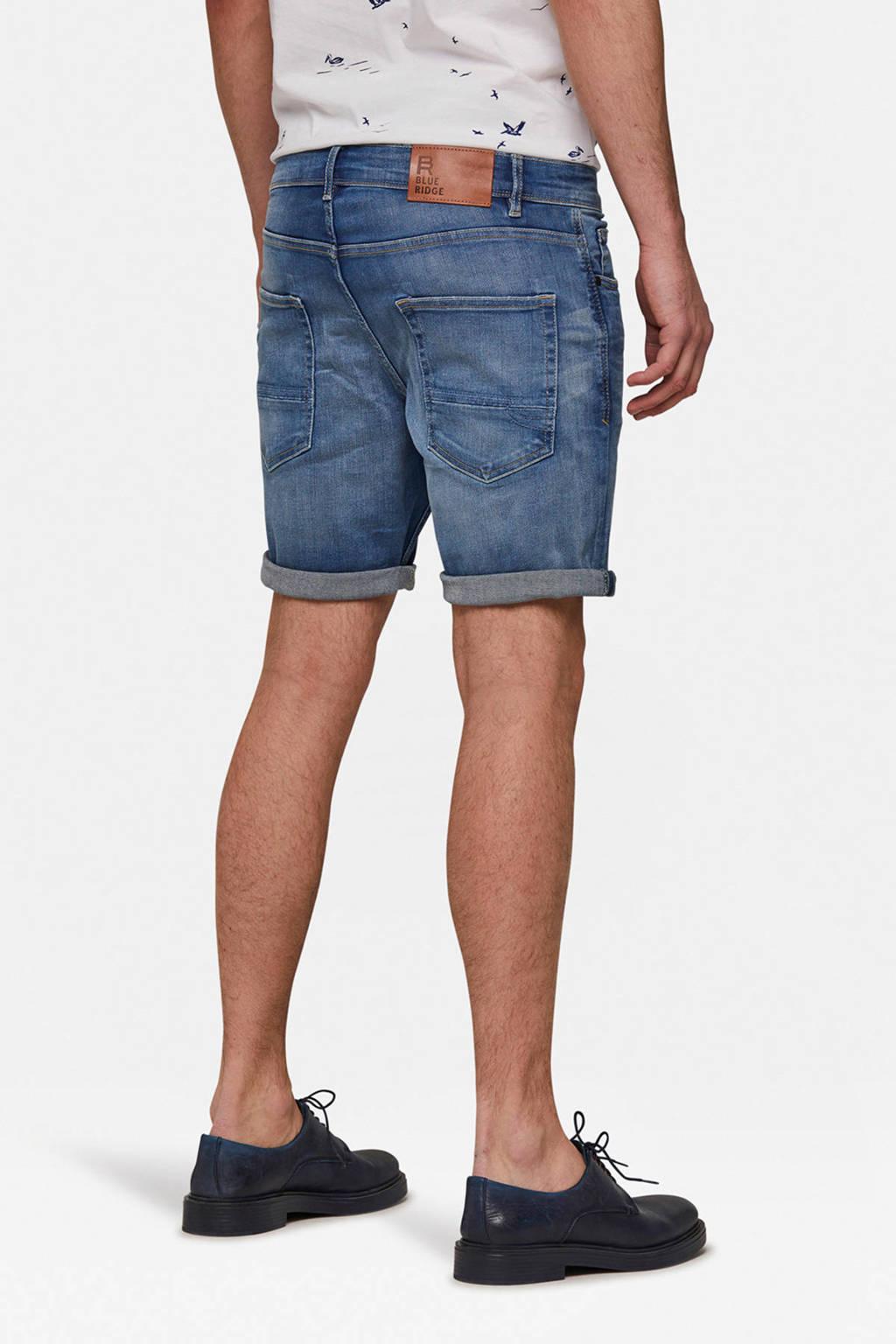 WE Fashion Blue Ridge regular fit jeans short 5-pocket blauw, Blauw
