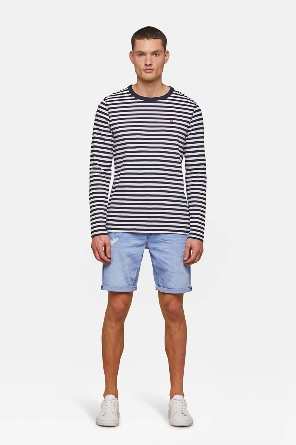 WE Fashion Blue Ridge regular fit jeans short blue denim, Blue denim