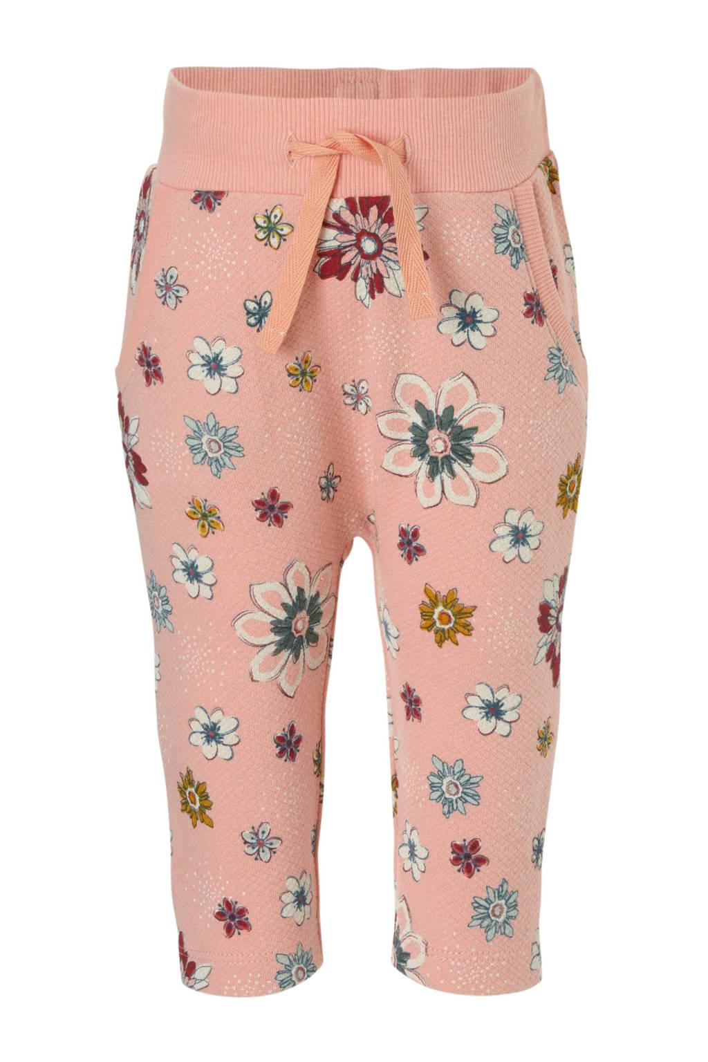 Small Rags broek met bloemenprint, Koraalrood