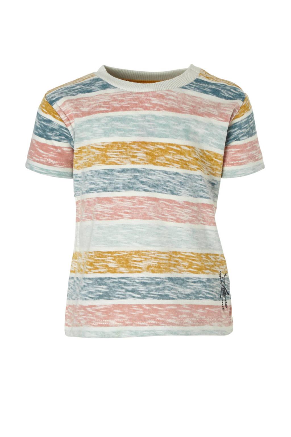 Small Rags gestreept T-shirt, Blauw/ Lichtblauw/ Roze