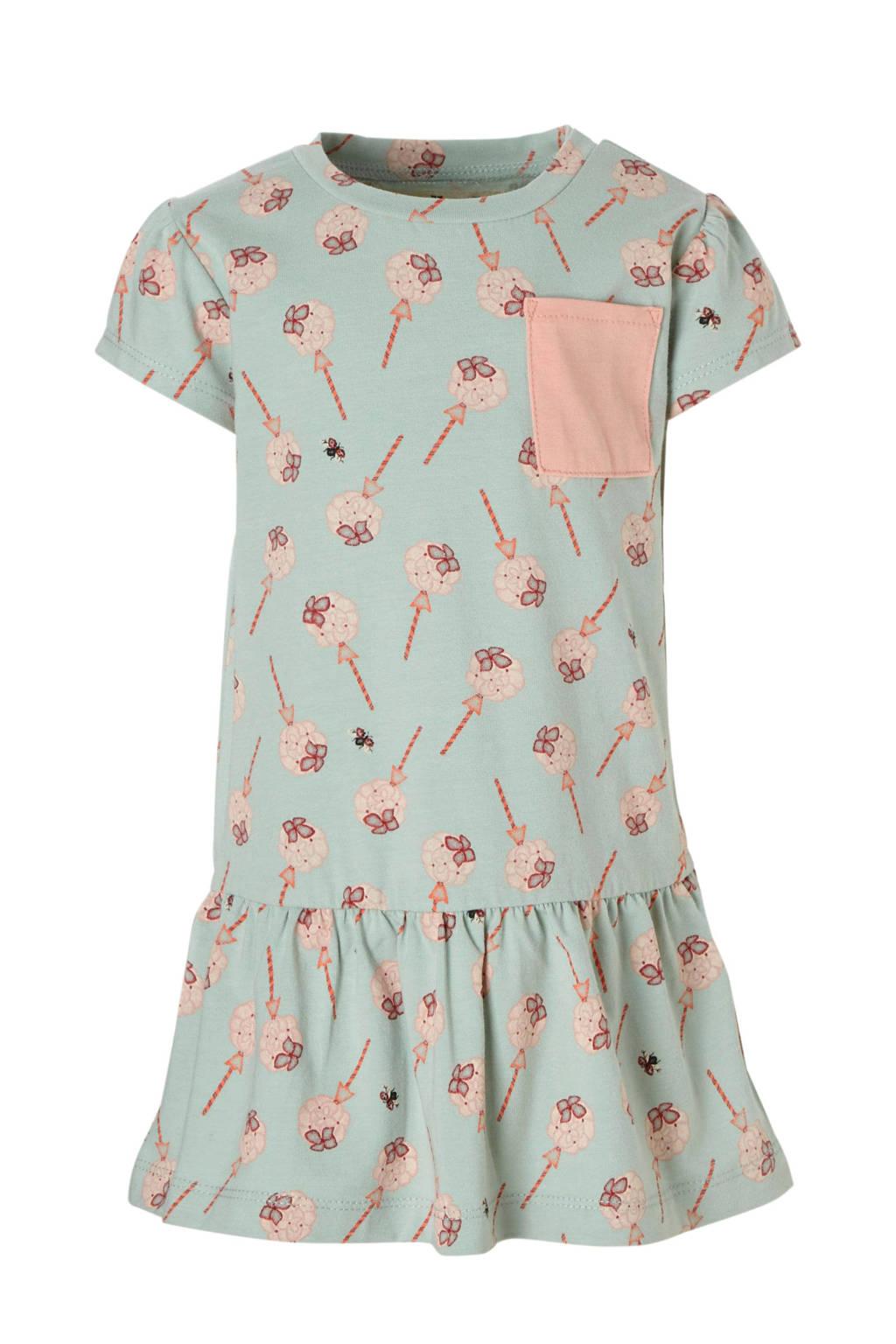 Small Rags jurk met all-over print mintgroen, Mintgroen