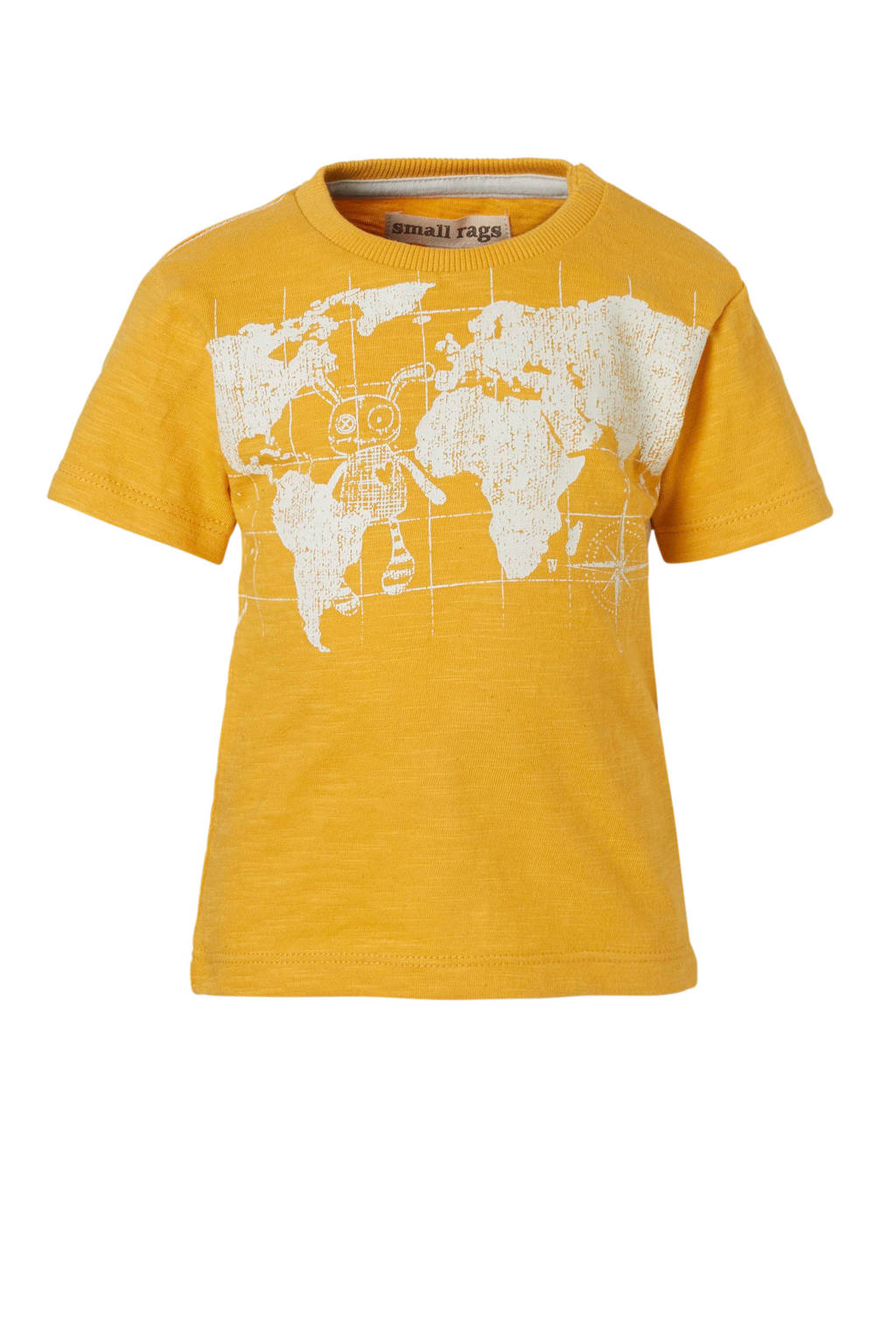 Small Rags T-shirt, Geel