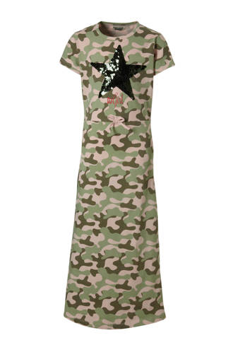 maxi jurk met pailetten ster