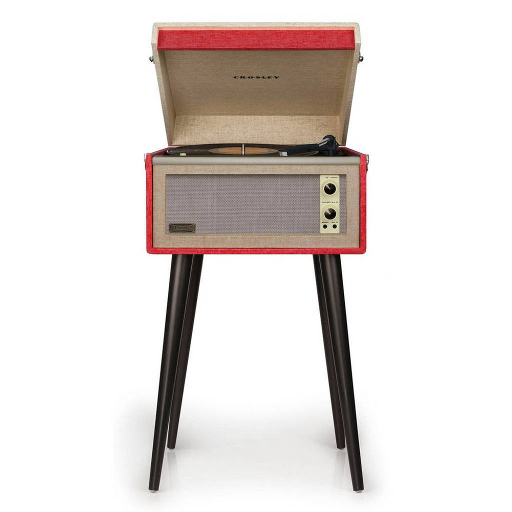 Crosley Bermuda CR6233A-RE  retro platenspeler rood, Rood