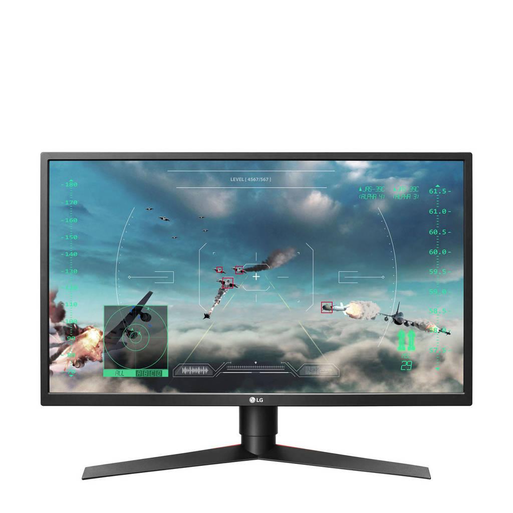 LG 27GK750F-B 27 inch Full HD gaming monitor, Zwart, Rood