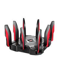 TP-Link Archer C5400X gaming router, Zwart, Rood