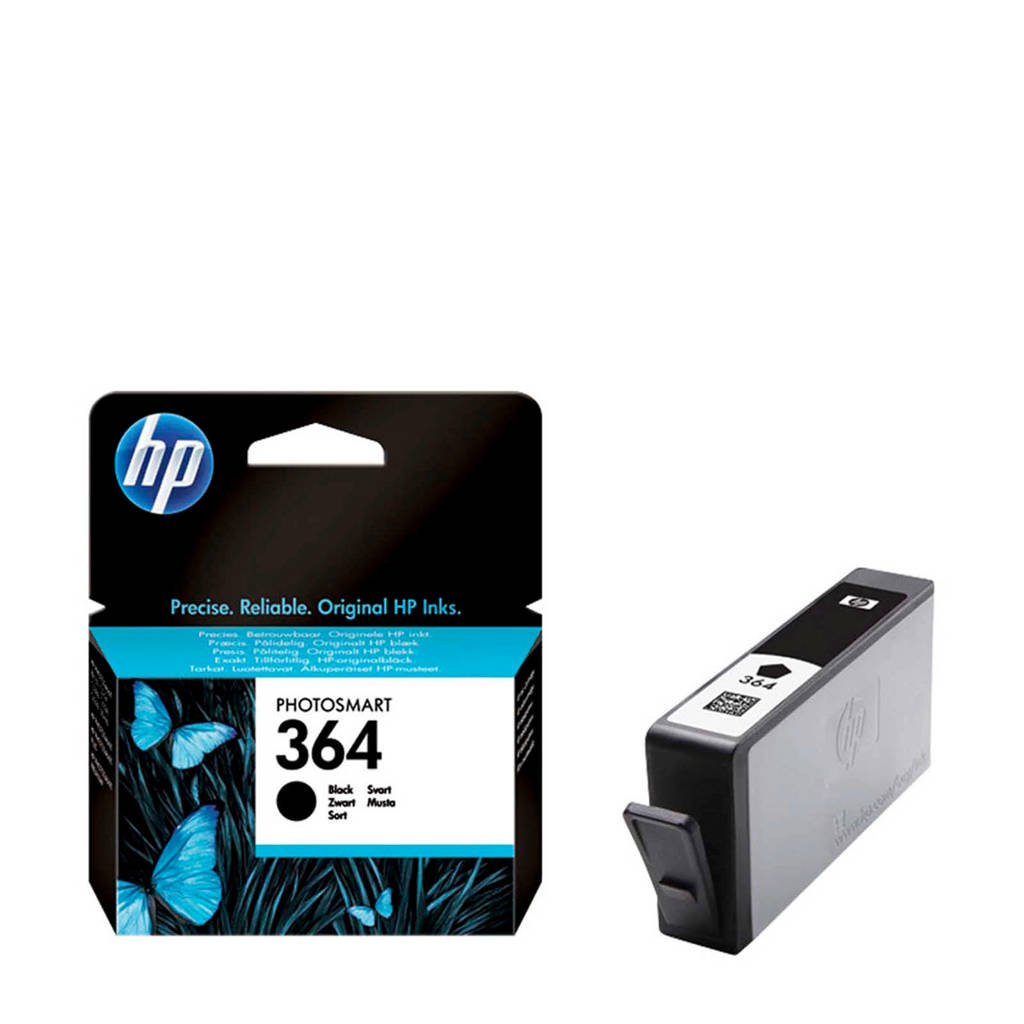 HP 364 (CB316EE) zwarte inktcartridge, Zwart
