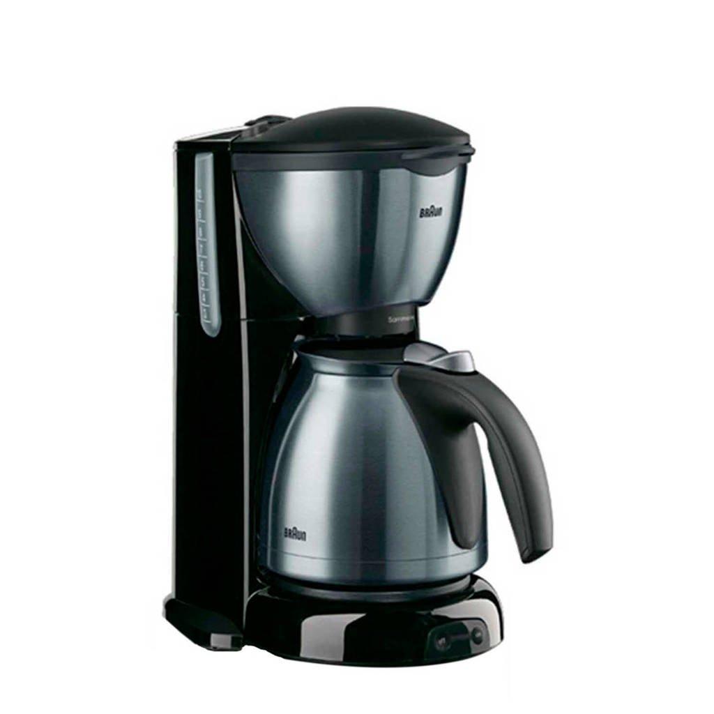Braun KF610/1 koffiezetapparaat, Zwart/RVS