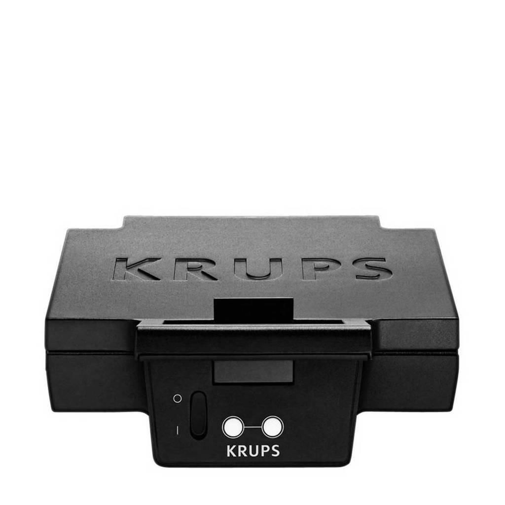 Krups FDK452 CroQue GRcic tosti-apparaat, Zwart