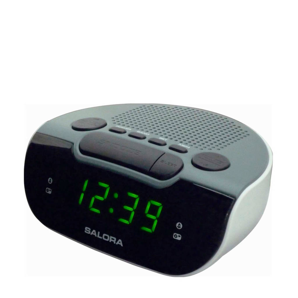 Salora CR612 wekkerradio wit, Grijs, wit