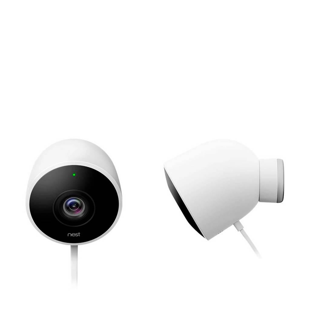 Nest 2 pack Cam Outdoor beveiligingscamera's, Wit
