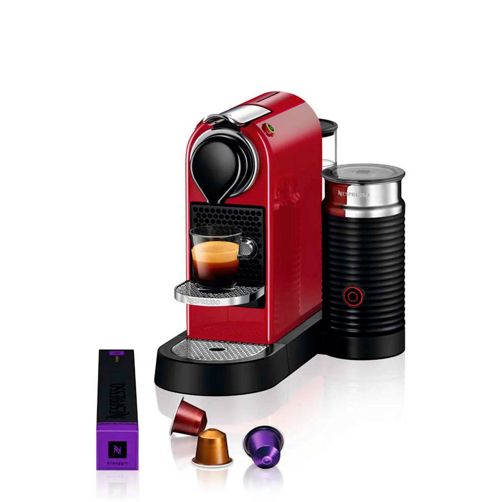 Krups CitiZ & Milk Cherry Red XN7605 Nespresso machine, -