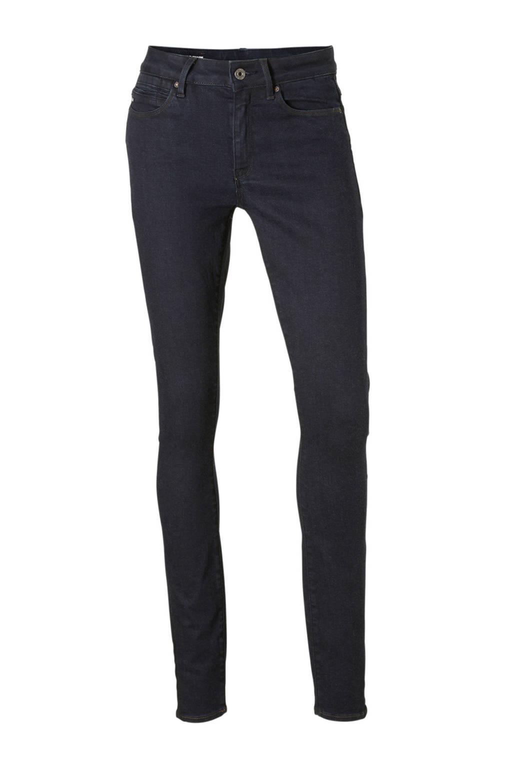 G-Star RAW high waist skinny jeans donkerblauw, Donkerblauw
