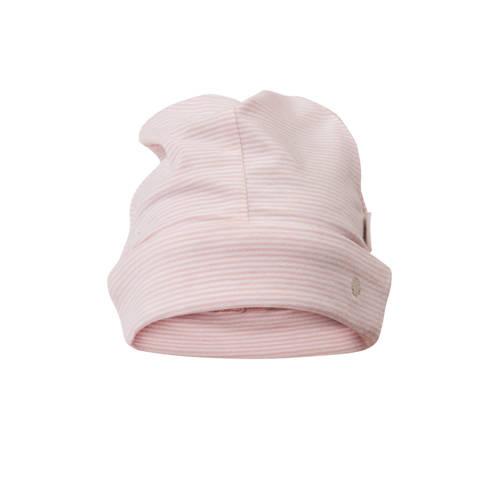 gestreepte muts Elwyn roze