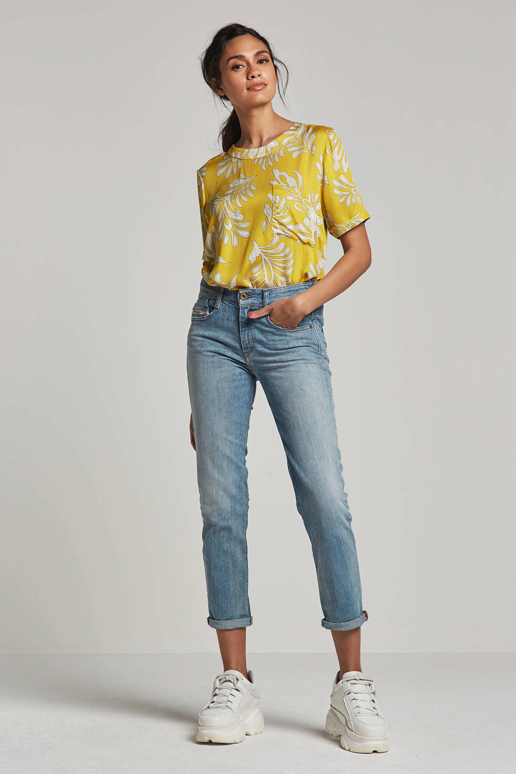 Diesel D-rifty slim fit low waist jeans, Blauw
