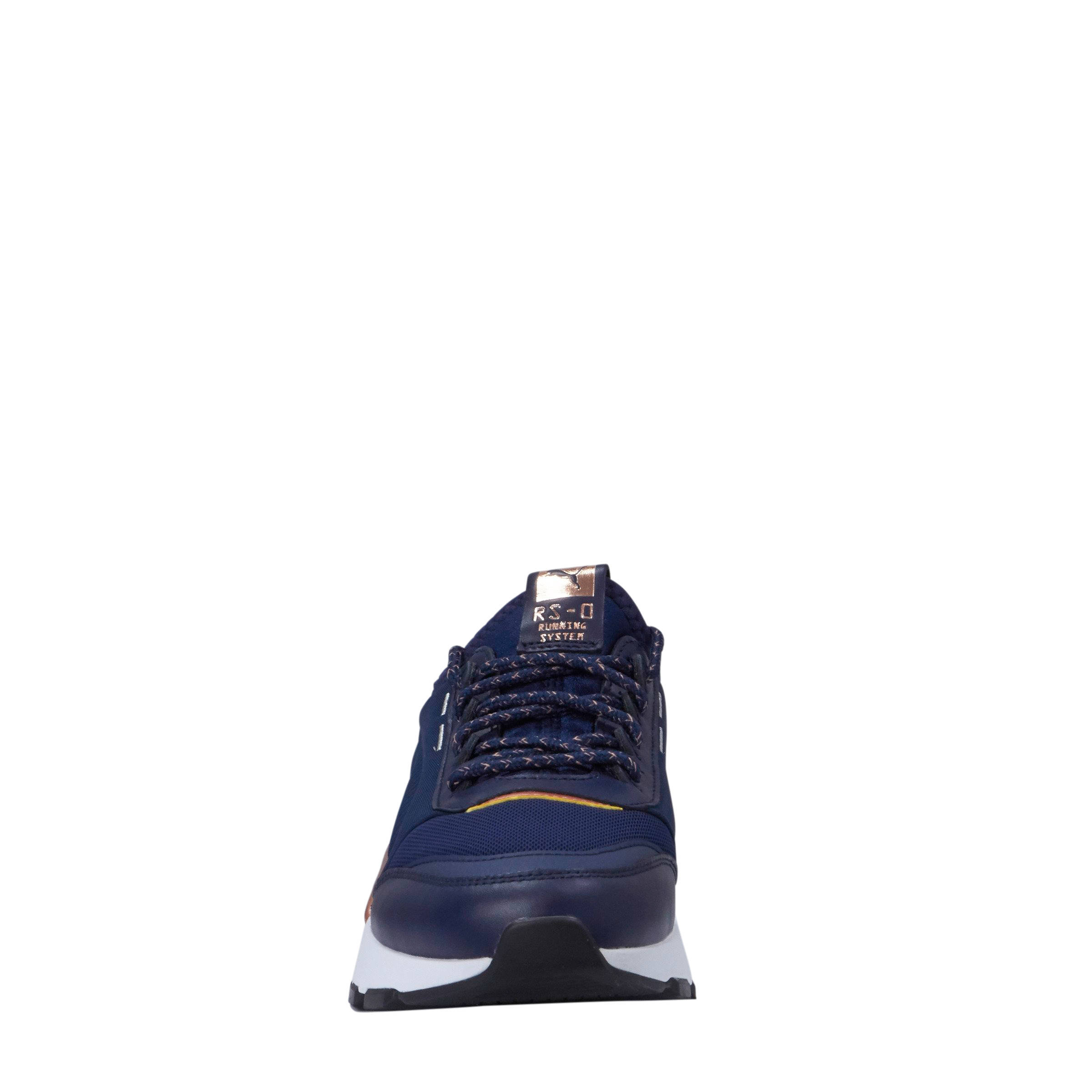 ca792687398 Puma RS-0 Trophy sneakers donkerblauw/wit | wehkamp