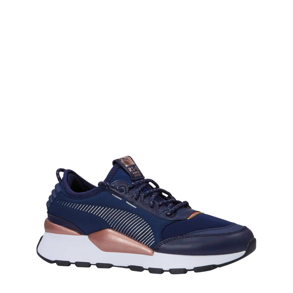 958ad8fed1d Puma RS-0 Trophy sneakers donkerblauw/wit, Donkerblauw/wit/roze