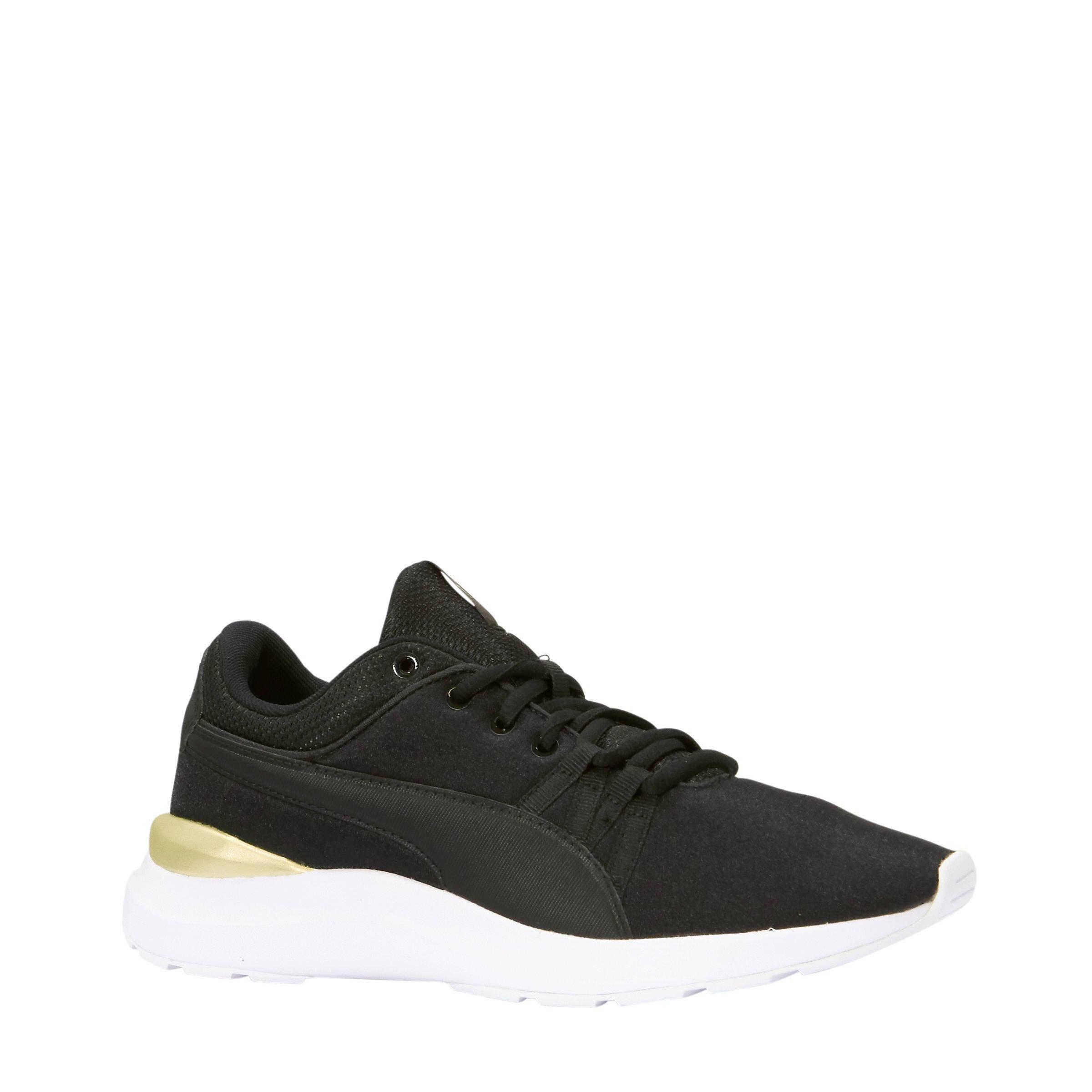 Puma Adela sneakers zwart/goud   wehkamp