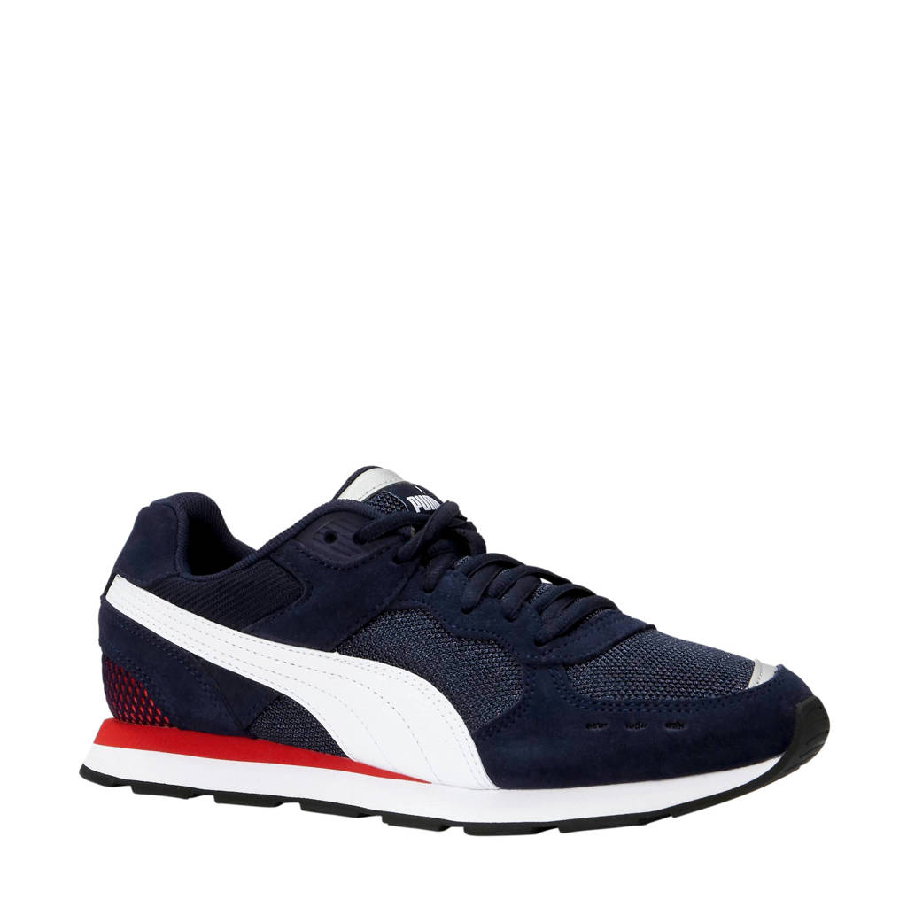 Puma   Vista sneakers donkerblauw/wit/rood, Donkerblauw/wit/rood