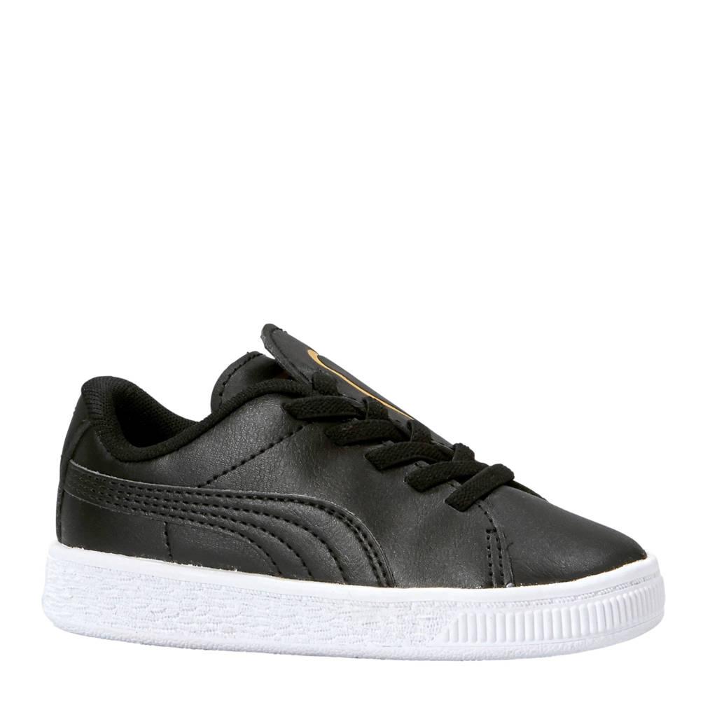 Puma  Basket Crush AC sneakers zwart/goud, Zwart/goud