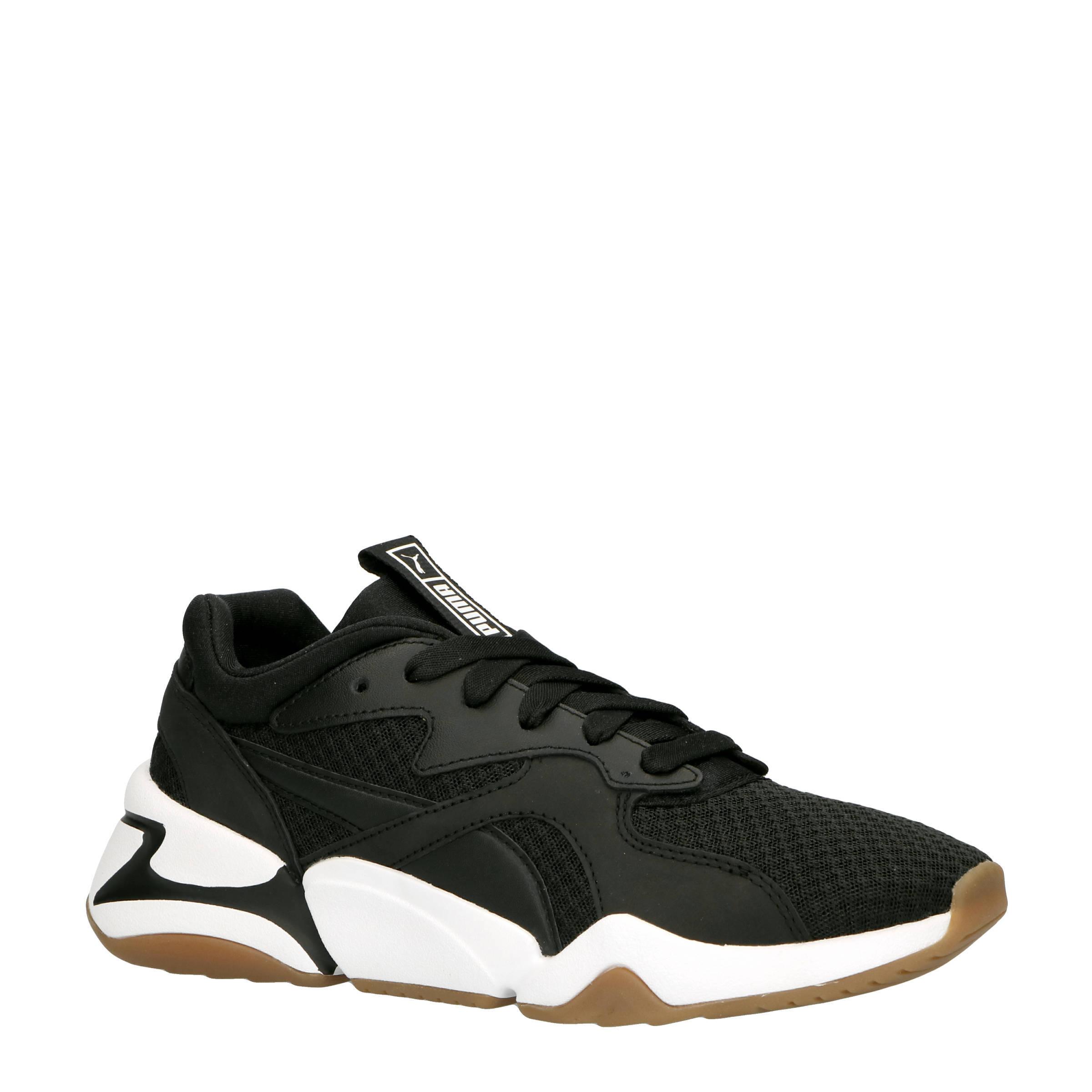 Puma Nova 90's Bloc sneakers zwart | wehkamp