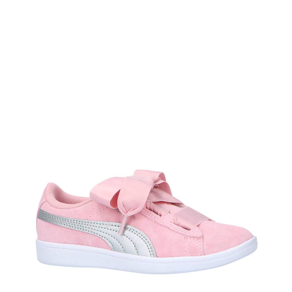 Puma  Vikky Ribbon AC PS suède sneakers, Roze/Zilver
