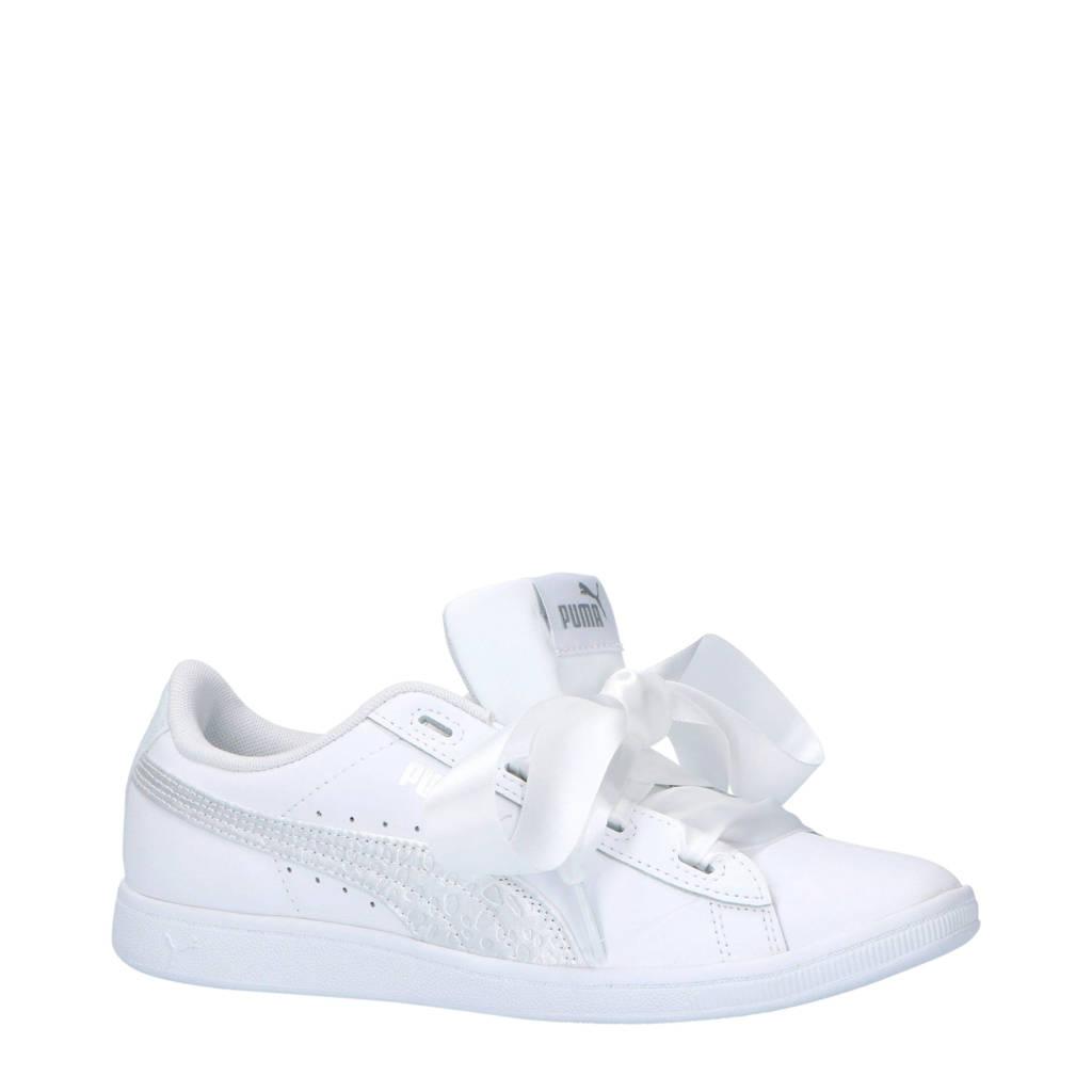 Puma  Vikky Ribbon L Satin Jr sneakers, Wit