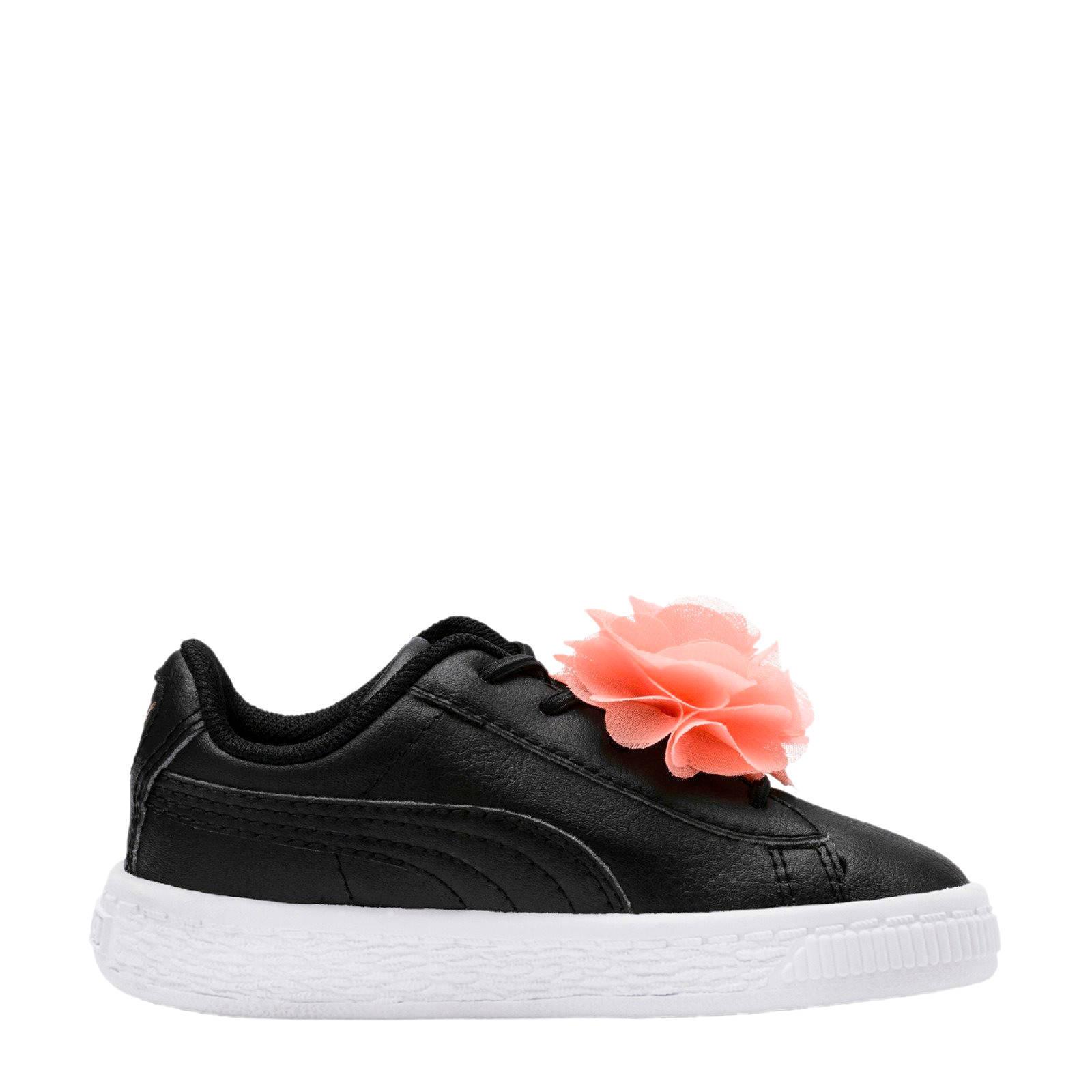 fcfb9b14718 Puma Basket Flower AC Inf sneakers zwart | wehkamp