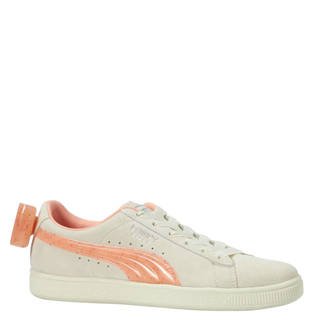 Suede Bow Jelly Jr sneakers wit/oranje