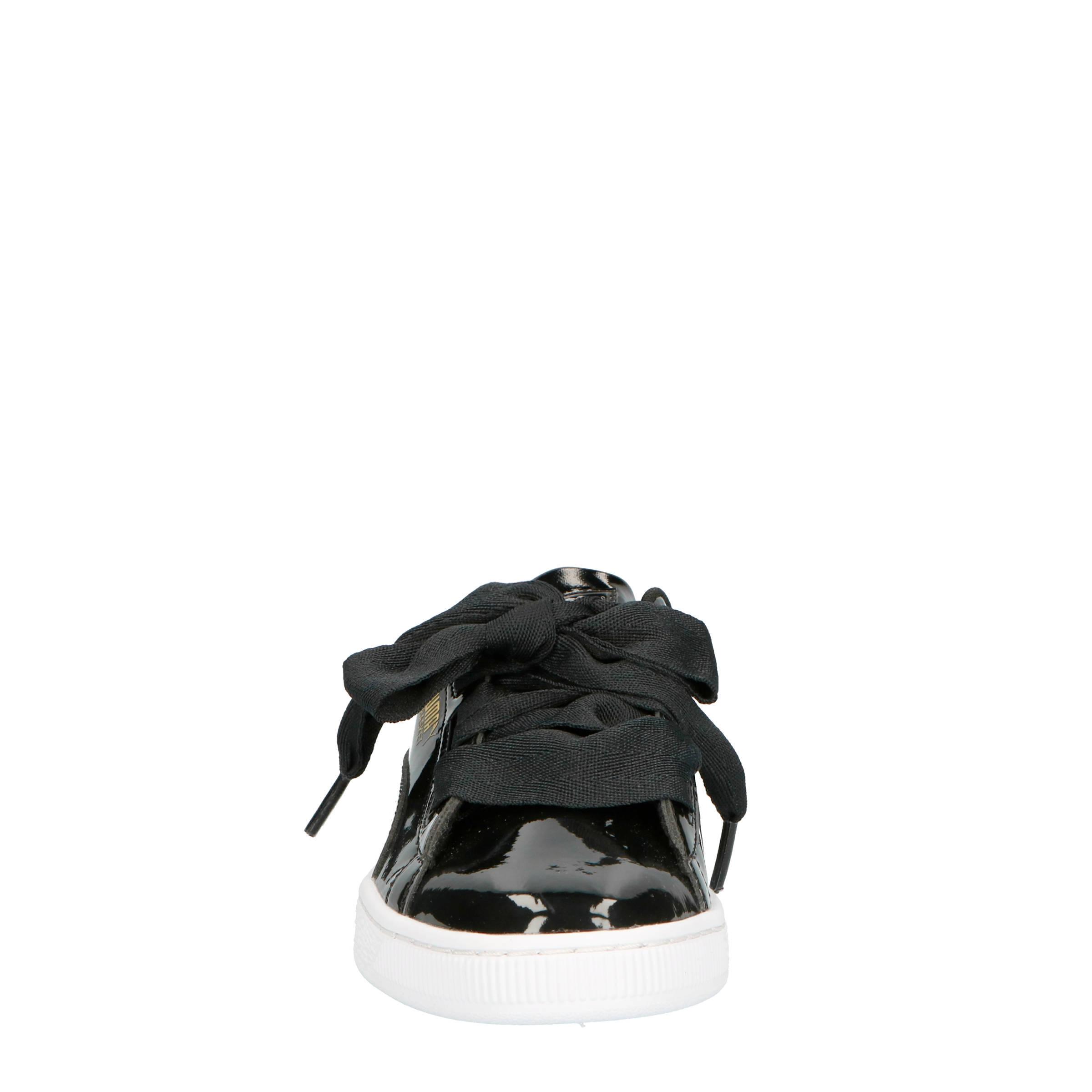 8f2fac82f46 Puma Basket Heart Patent Jr sneakers zwart | wehkamp