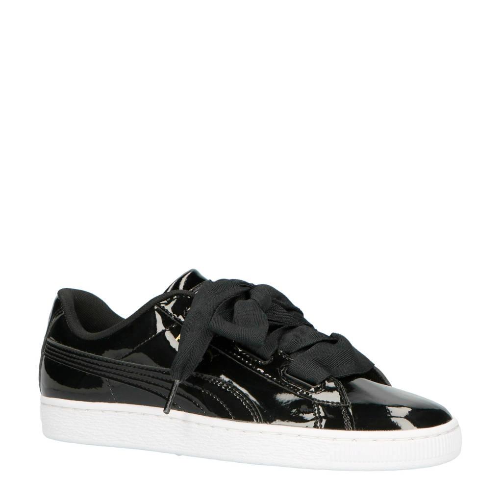 036cea437fe Puma Basket Heart Patent Jr sneakers zwart, Zwart/wit