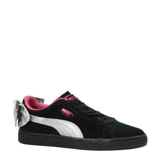 Suède Bow AC PS sneakers zwart/fuchsia